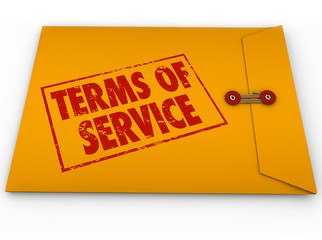 Terms of Service Yellow Envelope TOS Conditions Contract Restric