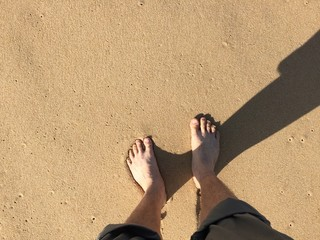 standing on sand