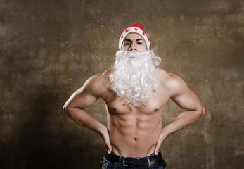 Fitness Santa ready for Christmas