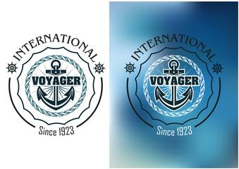 International voyager marine heraldic banner
