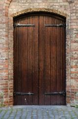 Wooden Door at Nieuwe Kerk