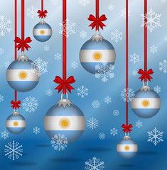Christmas background flags Argentina