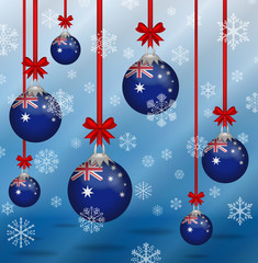 Christmas background flags Australia