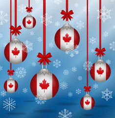 Christmas background flags Canada
