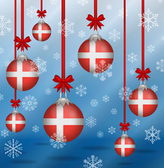 Christmas background flags Denmark