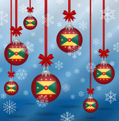 Christmas background flags Grenada