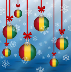 Christmas background flags Guinea