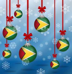 Christmas background flags Guyana