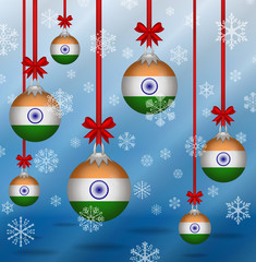 Christmas background flags India