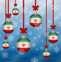 Christmas background flags Iran