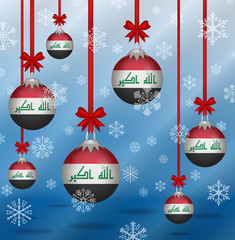 Christmas background flags Iraq