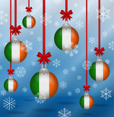 Christmas background flags Ireland