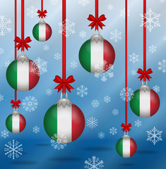 Christmas background flags Italy