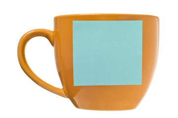 Coffee Cup With Blank Postit Note
