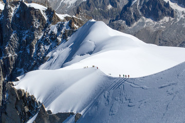Climber in Mont Blanc