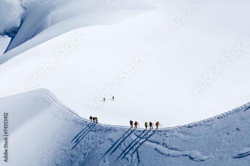 Papiers peints Magasin de sport climber in Mont Blanc