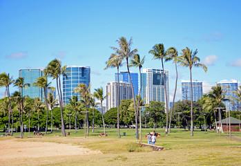 Magic Island Park, Honolulu, Hawaii