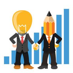 Team management. Vector flat illustration