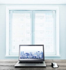 Office workplace with computer