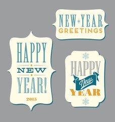 Happy New Year typography elements