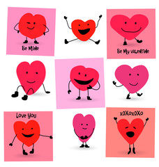 Valentines Day Hearts cartoons