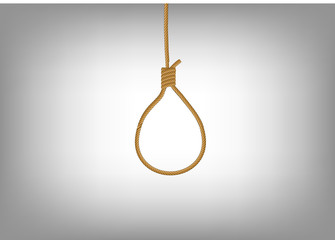 noose hanging on abstract background