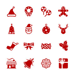 christmas icon set 6, vector eps10