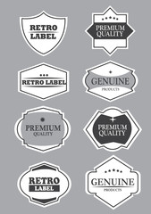 Business Stamps and Labels with Copy Space