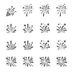 firework icon set, vector eps10