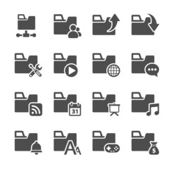 folder icon set 3, vector eps10