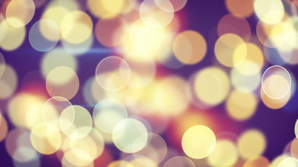 beautiful circle bokeh of holiday lights loopable background