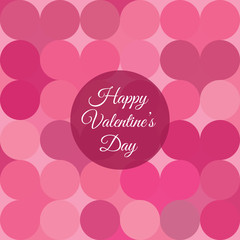 Valentines day card with hearts background
