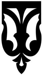 """motif pour lambrequin créole , """"papillon"""""""