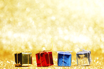 Colorful holiday gifts