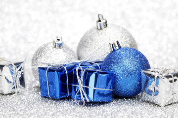Christmas gifts and balls