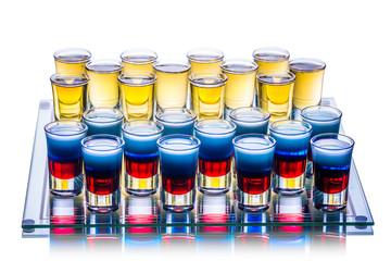 Shots on checkerboard