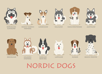 Set of nordic dogs