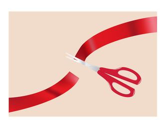 Scissors and ribbon