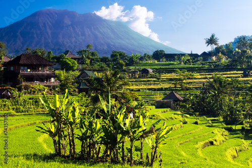 Canvas Indonesië At the foot of Mount Agung