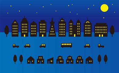夜の町並み