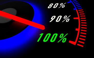 Tachometer 100 % schwarz