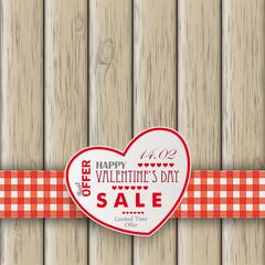 Heart ValentinsdayWooden Background