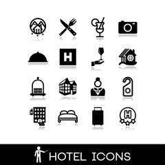 Hotel icons set 7