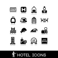 Hotel icons set 9