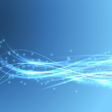 Speed bright swoosh wave blue modern bandwidth poster