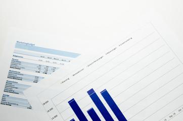 Marketingbudget mit Diagramm
