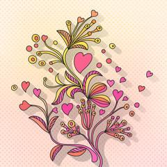 Valentine Doodle Background