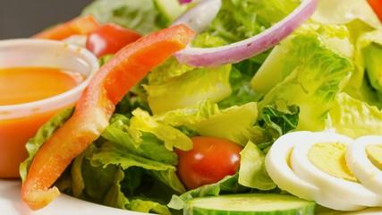 Delicious garden salad served in a restaurant