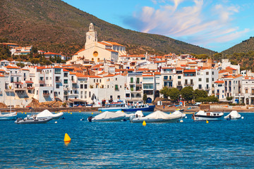 Mediterranean quay of Cadaques old village