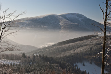 winter view to Smrk hill from Butoranka